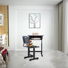 Child School Desk With Chair Segmart Height Adjustable Ergonomic Toddler Desk With Storage Drawer And Hanging Hooks Student Desk For Kids Homework Writing Desk For Kids 60x45cm Black W456 Walmart Com Walmart Com