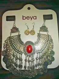 luxury harem necklace earrings set