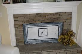 diy fireplace screen using a picture