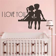 Love You Wall Sticker Valentines Day Wall Decal Girl Kissing Boy Interior Windows Home Decor Vinyl Room Art Mural Decal Hy352 Wall Stickers Aliexpress