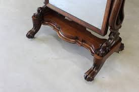 large antique victorian mahogany cheval