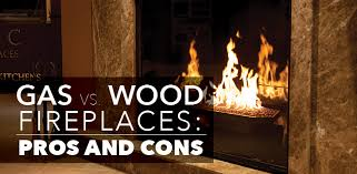 gas vs wood fireplace pros and cons