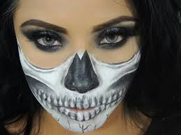 half skeleton face makeup tutorial
