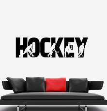 Wall Decal Sport Game Hockey Word Silhouettes Vinyl Sticker Ed1851 Wallstickers4you