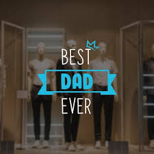 Best Dad Ever Father S Day Window Decal Etsy