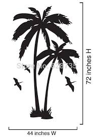 Coconut Tree Wall Stickers Large Size Palm Trees Vinyl Wall Decals With Seabirds Art For Home Decor Free Shipping Tree Wall Sticker Vinyl Wall Decalswall Sticker Aliexpress