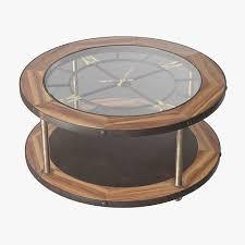 denton clock coffee table 3d cgtrader