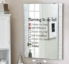 Mirror Morning To Do List Decal Tenstickers