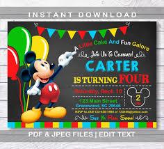 Invitaciones De Mickey Mouse 11 Invitacion De Mickey Mouse