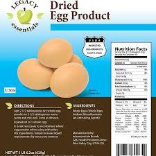 legacy emergency powdered eggs
