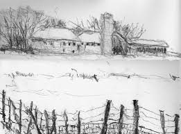 Winter Farm Wrong Handed Pencil Drawing Slightly Cropped F Flickr