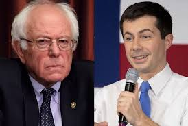 Image result for buttigieg and sanders