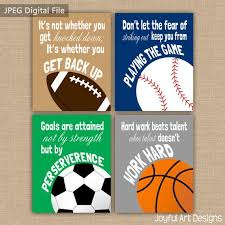 Boy Room Sports Decor Set Of 4 Motivating Sports Quotes Design At Repinned Net