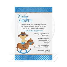 Western Baby On Rocking Horse Baby Shower Invitation From Zazzle