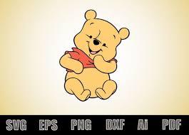 Baby Winnie The Pooh Decal Vinyl Decals Svg File Winnie Etsy