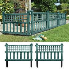 Green Pack Of 4 Plastic Fence Panels Garden Outdoors