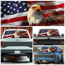 Car Rear Window Graphic Decal Sticker Truck Suv Van American Flag Eagle Label Car Stickers Aliexpress