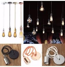 braided fabric flex pendant lamp holder