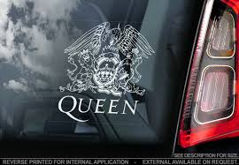 Queen Car Sticker Freddie Mercury Rock Band Music Window Bumper Decal Sign V01 Ebay