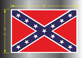 Product General Lee Flags Of The Confederate States Of America 22 X 32 Vinyl Decal Sticker