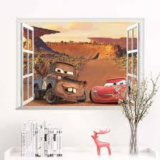 Disney Cars Lightning Mcqueen Wall Sticker For Kids Room Boy Bedroom Accessories Mural Art Home Decal Wall Stickers Aliexpress