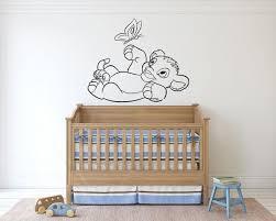 The Lion King Wall Decal Cartoon Wall Sticker Simba Lion Nursery Wall Decor Lk03 In 2020 Nursery Wall Decor Wall Decals Cartoon Wall