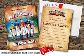 10 Invitaciones De Cumpleanos Con Diseno De Los Power Rangers Con