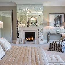 accent wall large framed mirror glass