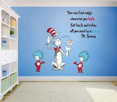Amazon Com Runtoo Dr Seuss Quotes Saying Wall Decals Kids Educational Wall Stickers Children Reading Room Baby Nursery Wall Decor Arts Crafts Sewing