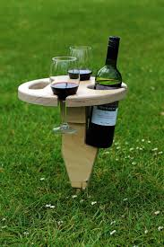 camping wine table wine glass holder