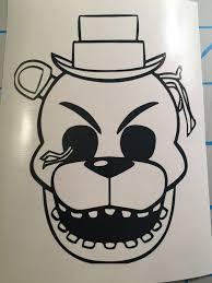 Free Shipping Five Nights At Freddy S Vinyl Decal Sticker Withered Toy Freddy Vinyl Decal Stickers Vinyl Decals Art Logo