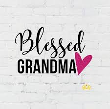 Amazon Com Blessed Grandma With Glitter Heart Vinyl Decal Sticker For Car Yeti Cup Or Laptop 3 Inches Handmade