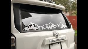 How To Install Mountain Decal Onto The Back Window Youtube