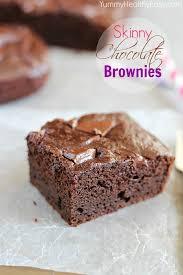 skinny chocolate brownies yummy