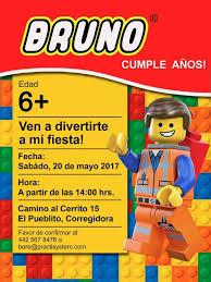 Invitacion Lego Invitaciones Personalizadas Las Creamos A Partir