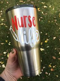 Tiger Inspired Tumbler Personalized Monogram Fan Cup College Football Nursing Nurse Nurse Life Decal Decals For Yeti Cups
