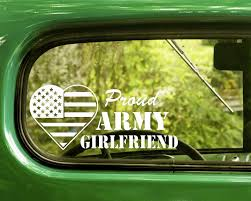 2 Proud U S Army Girlfriend Decals Stickers The Sticker And Decal Mafia