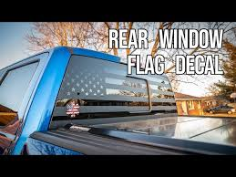 Intsalling An American Flag Rear Window Decal Youtube