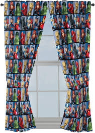 Amazon Com Jay Franco Marvel Avengers Team 63 Inch Drapes 4 Piece Set Beautiful Room Decor Easy Set Up Window Curtains Include 2 Panels 2 Tiebacks Official Marvel Product Home Kitchen