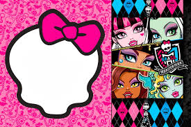 Invitaciones Gratis Para Fiesta De Monster High Invitaciones De