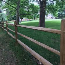 Fence City 48 High Pressure Treated Split Rail Post And Rail