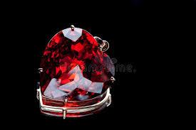 heart shaped precious stone stock image