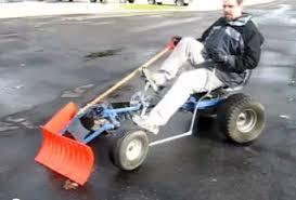pedal powered snow plow is zero energy