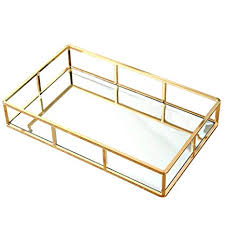 copper glass dressing table tray