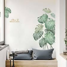 Diy Beach Tropical Palm Leaves Wall Stickers Modern Art Vinyl Decal Wall Mural Diy Flowers Wall Sticker Waterproof Home Decor In 2020 Diy Wall Decals Beach Wall Decals Wall Mural Decals
