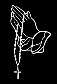 Praying Hands Decal Car Window Laptop Rosary Vinyl Sticker Etsy