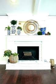 painted brick fireplace white ideas