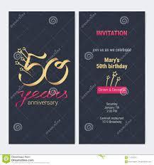 50 Anos Del Aniversario De La Invitacion De Vector De La Tarjeta
