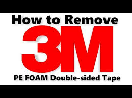 how to remove 3m tape without damaging