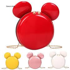 Túi đeo chéo giả da hình chuột Mickey dễ thương cho nữ